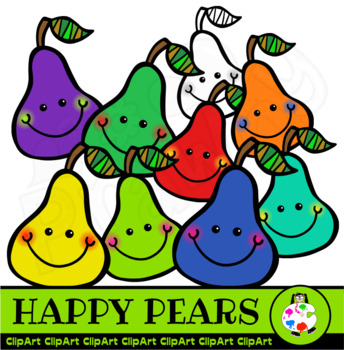 Happy Pears - Doodle Clip Art