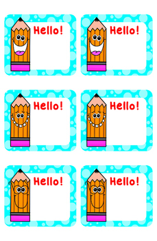 Happy Pencil Welcome Banner Name Tags and Bulletin Board Borders