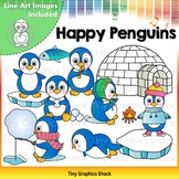 Happy Penguins Clip Art