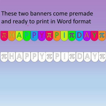 Happy Pi Day Banner Clipart