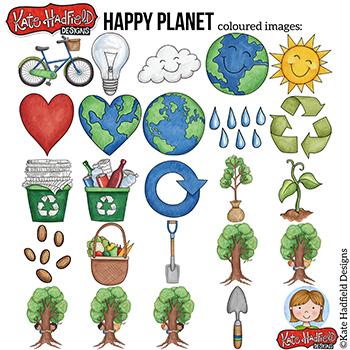 "Earth Day Clip Art: ""Happy Planet"""