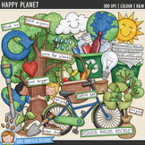 "Earth Day Clip Art: ""Happy Planet"""