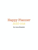Happy Planner Add-Ons