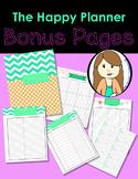 Happy Planner Bonus Pages