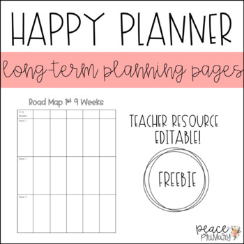 Happy Planner:: Long-Term Planning