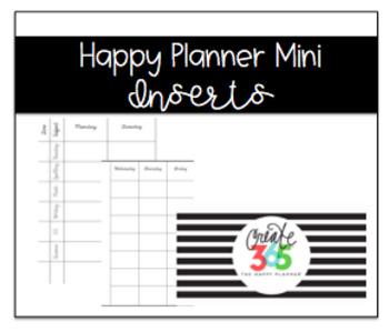 Create 365 Happy Planner (Mini) Inserts: Lesson Planning