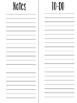 Happy Planner Notes Insert