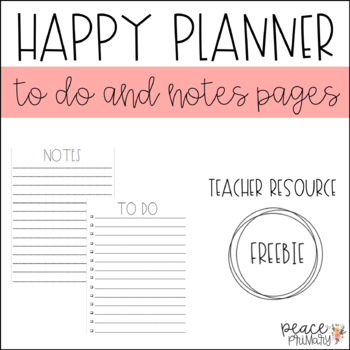 Happy Planner:: Notes Pages