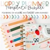 Happy Planner Lesson Plan Template BUNDLE! (Teacher Edition 2021-2022)