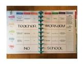 Happy Planner Teacher Edition-Template