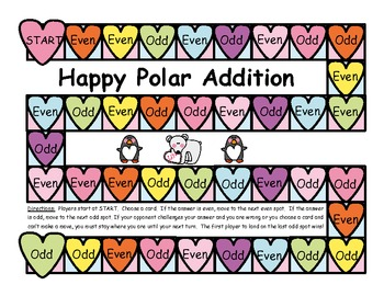 Happy Polar Addition Game - Sums of 2 One Digit Numbers