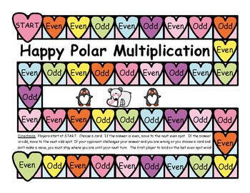 Happy Polar Multiplication Game - Products of 2 Numbers - Easy Facts