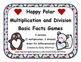 Happy Polar Multiplication and Division 4 Game Set - Easy and Hard Facts!