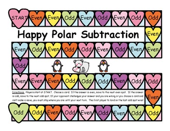 Happy Polar Subtraction Game - Differences of 2 Numbers, 10 and Under