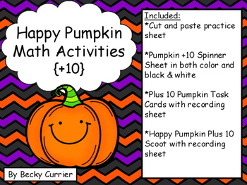 Happy Pumpkin Math Activities {Plus 10}
