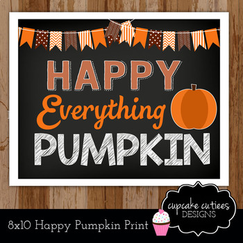 Happy Pumpkin  Sign Poster Classroom Decor Gift Printable