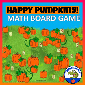 Happy Pumpkins Math Board Game