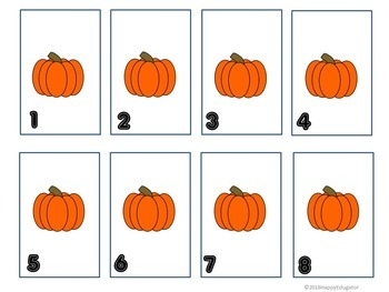 Happy Pumpkins Math Board Game