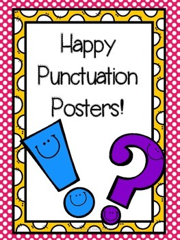 Happy Punctuation Posters