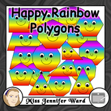 Happy Rainbow Shapes Clip Art