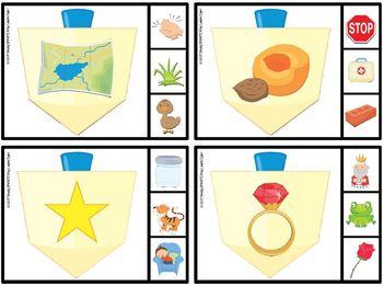 Happy Rhyming:  LOW PREP Hanukkah Themed Rhyming Clip Cards