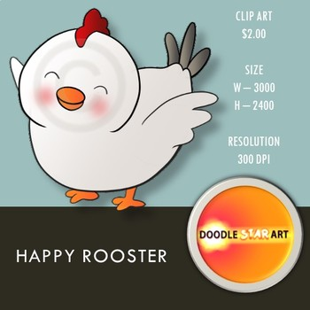 Happy Rooster Clip Art