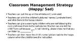 Happy / Sad Classroom Management Chart