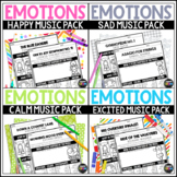 Classical Emotions Listening Bundle, Happy, Sad, and Excited Activities