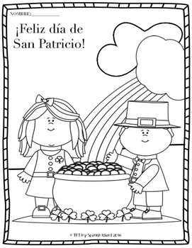 Happy Saint Patrick's Day! Coloring Pages