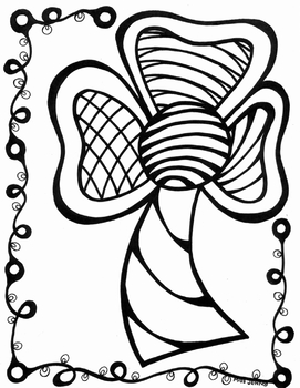 Happy Saint Patrick's Day Shamrock Coloring Page