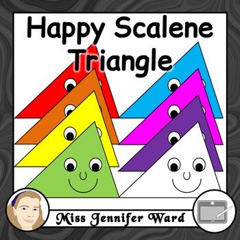 Happy Scalene Triangle Clipart
