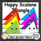 Happy Scalene Triangle Clipart