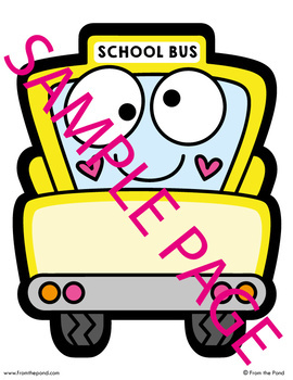 Happy School Bus Labels / Name Tags for the Classroom {Editable}