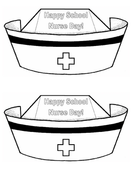 Happy School Nurse Day nurse hat cards school nurse