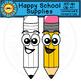 Happy School Supplies Clip Art