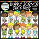 Happy Science Stick Kids Clipart