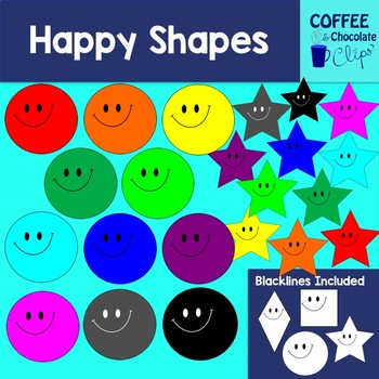 Happy Shapes Clipart
