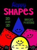 Happy Shapes! Bright on Black Posters for the Primary Classroom