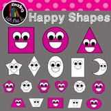 Happy Shapes Clip Art