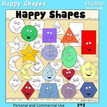 Happy Shapes Clip Art color clip art and line art C Seslar