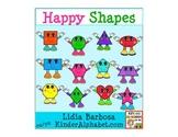 Happy Shapes {Clip Art for Teachers}