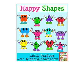 Happy Shapes {Clip Art for Teachers}