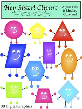 Happy Shapes Clip Art