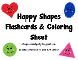 Happy Shapes Flashcards