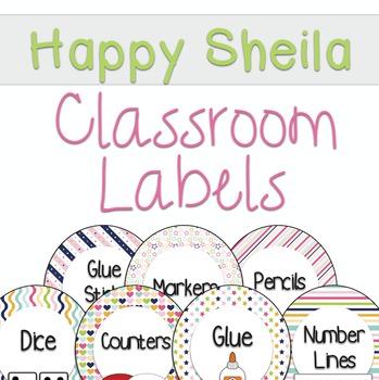 Happy Sheila Classroom Labels