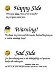 Happy Side, Warning!, Sad Side behaviour explanations