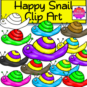 Happy Snail Clip Art