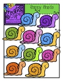 Happy Snails {Creative Clips Digital Clipart}