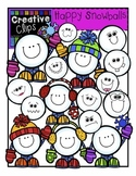 Happy Snowball Clipart {Creative Clips Clipart}