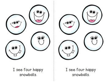 Emergent Reader Bundle - Happy Snowballs